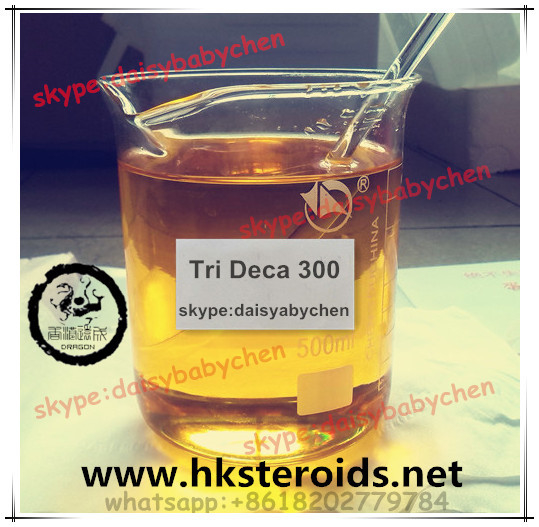 Fitness Muscle Growth Injection Yellow Steroids Oil Tri Deca 300 Deca 300mg/Ml